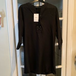 NWT Theory Tencel black dress. Size 8